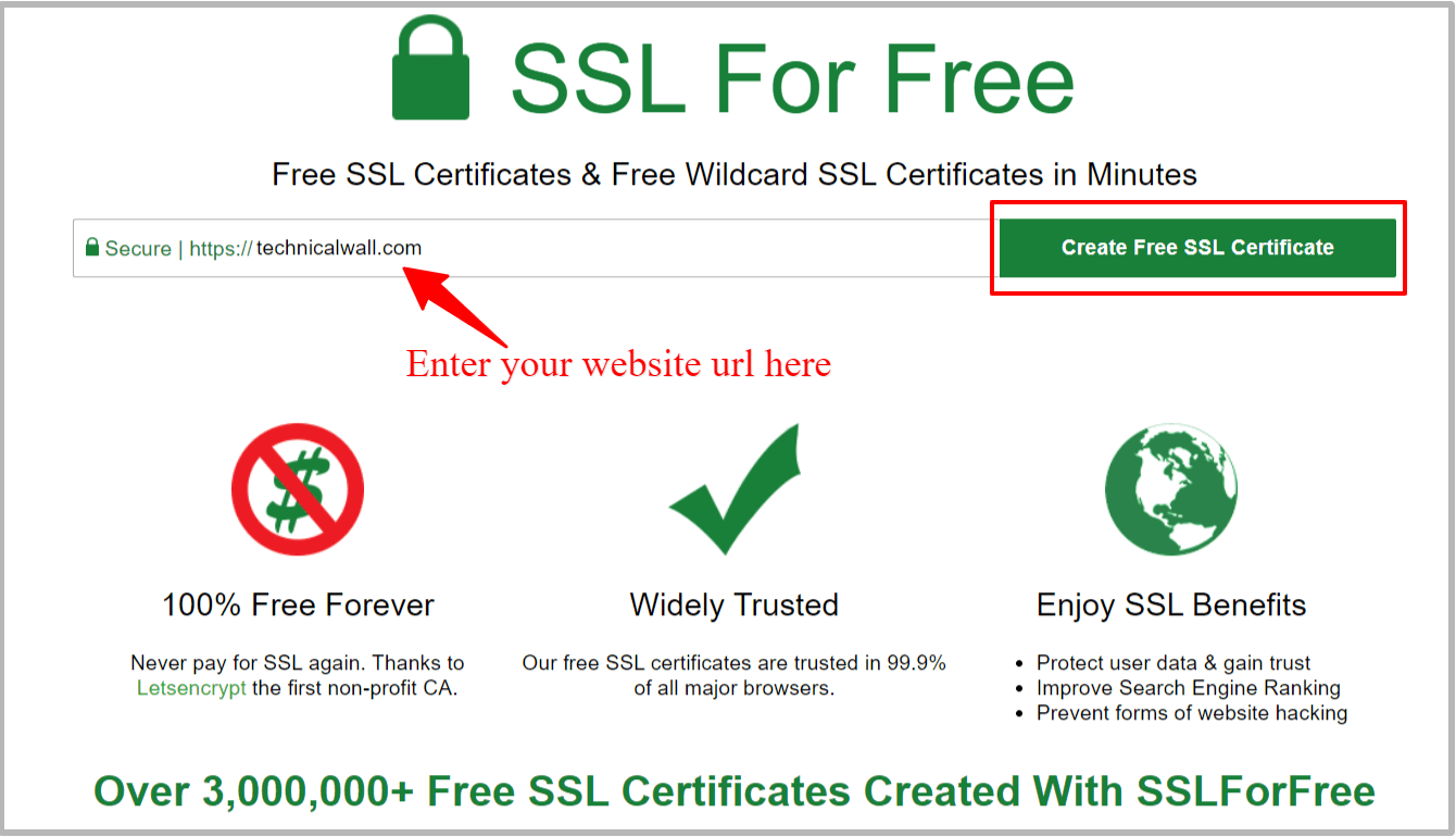 ssl for free certificate