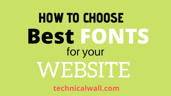 Best fonts for websites