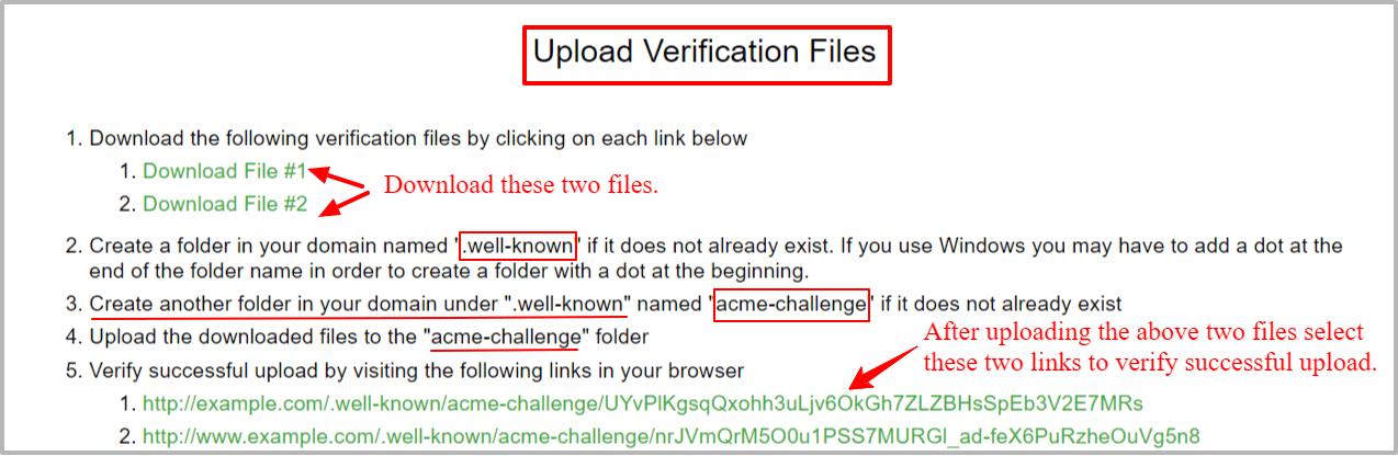 ssl upload verification