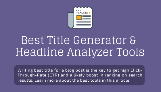 Best Blog Title Generator