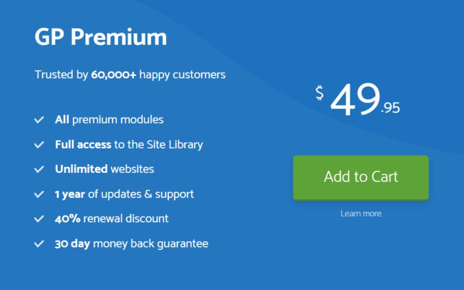 GeneratePress Premium Price