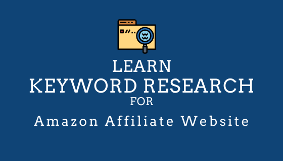 keyword research for an amazon products