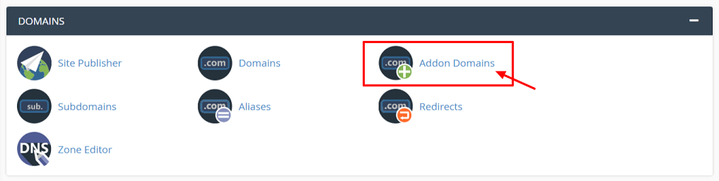 Add Addon Domains at A2hosting