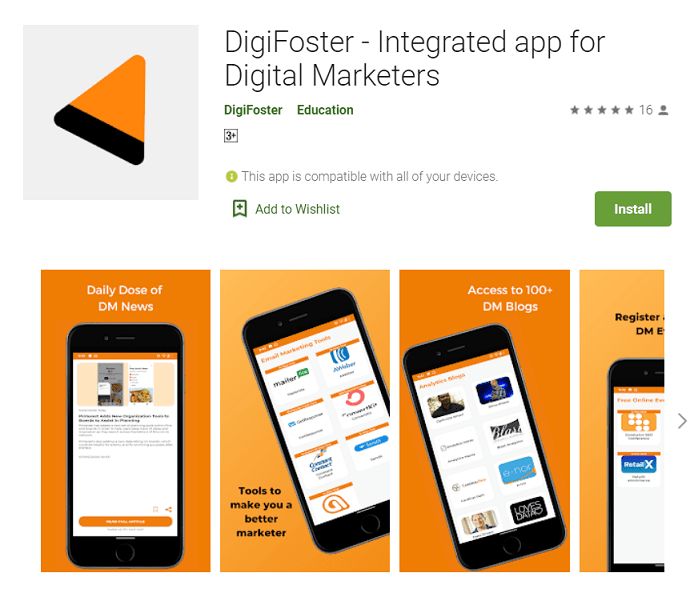 DigiFoster - Integrated app for Digital Marketers
