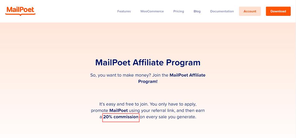 MailPoet Email Marketing Affiliate Program