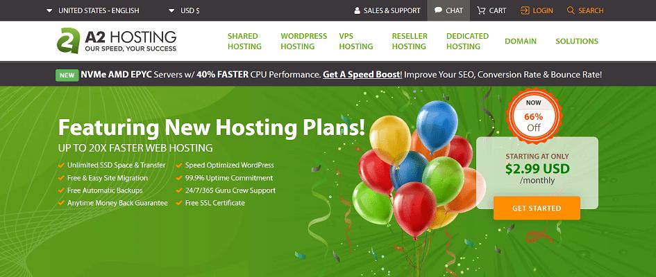 A2hosting Web Hosting Services Provider