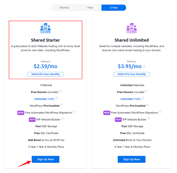 Dreamhost Shared Hosting Plans Pricing