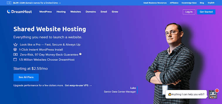 Dreamhost Web Hosting Services
