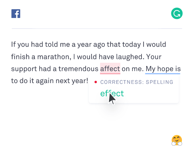 Grammarly Spelling Correction