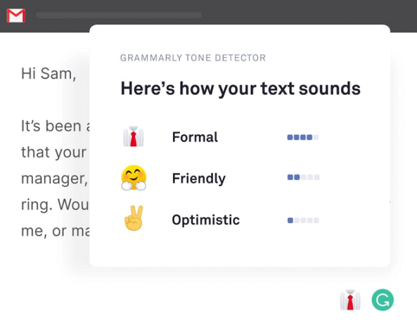 Grammarly Tone Checker