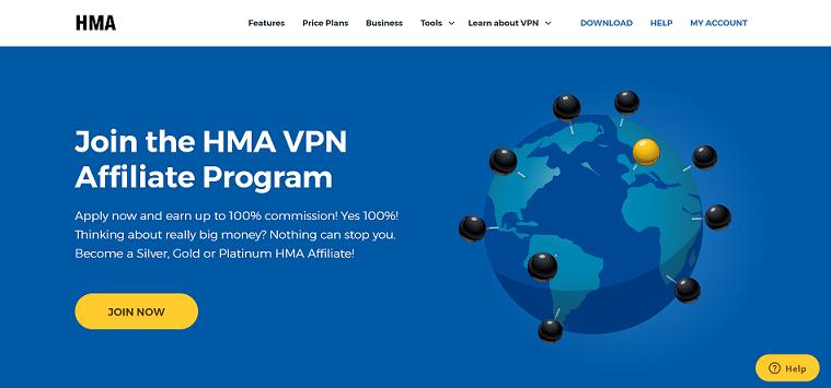 HMA VPN Recurring Affiliate Program