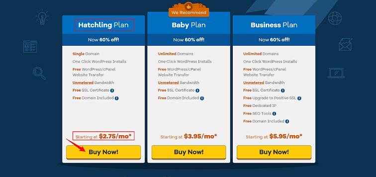Hostgator Shared Hosting Plans Pricing