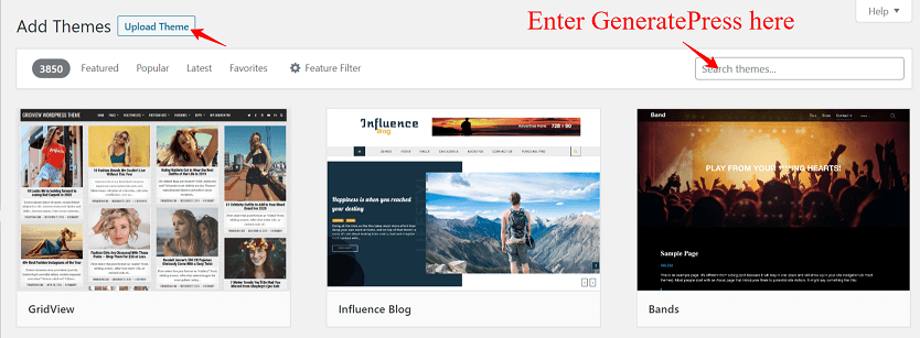 How to install GeneratePress free theme