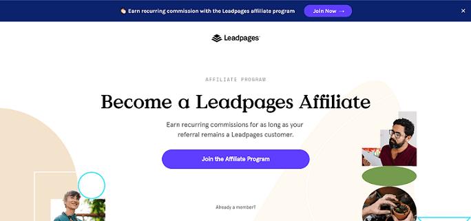 Leadpages Recurring Affiliate Program