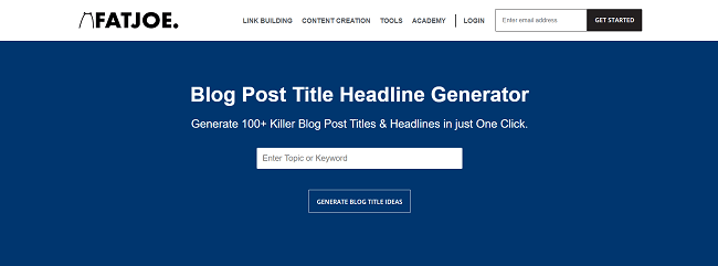 FatJoe Blog Post Title Headline Generator
