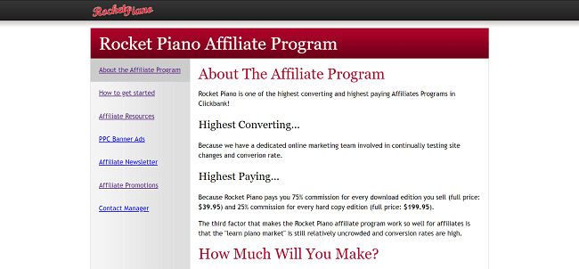 Rocket Piano Music Affiliate Program