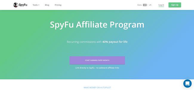 SpyFu Recurring Affiliate Program
