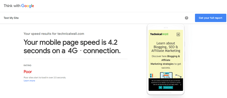 ThinkWithGoogle Mobile Page Speed