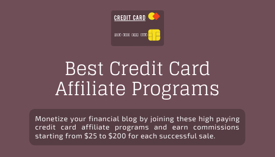 Credit Card Affiliate Programs