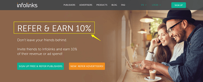 Infolinks Pay Per Click Affiliate Program