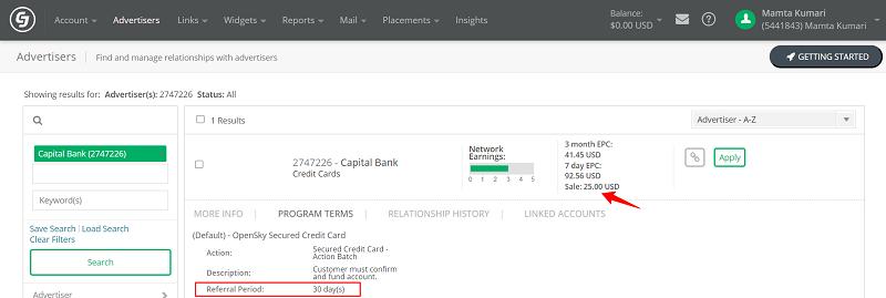 OpenSky CJ Credit Card Affiliate Program