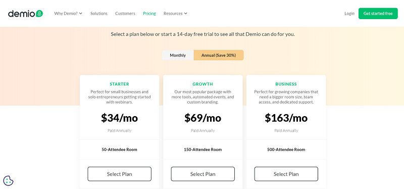 Demio Pricing and Plans