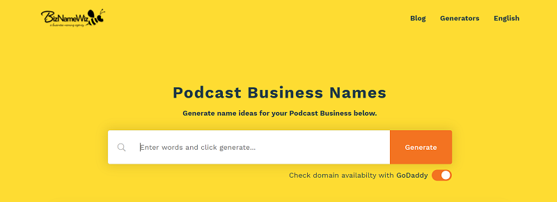 Podcast Business Name Ideas Generator